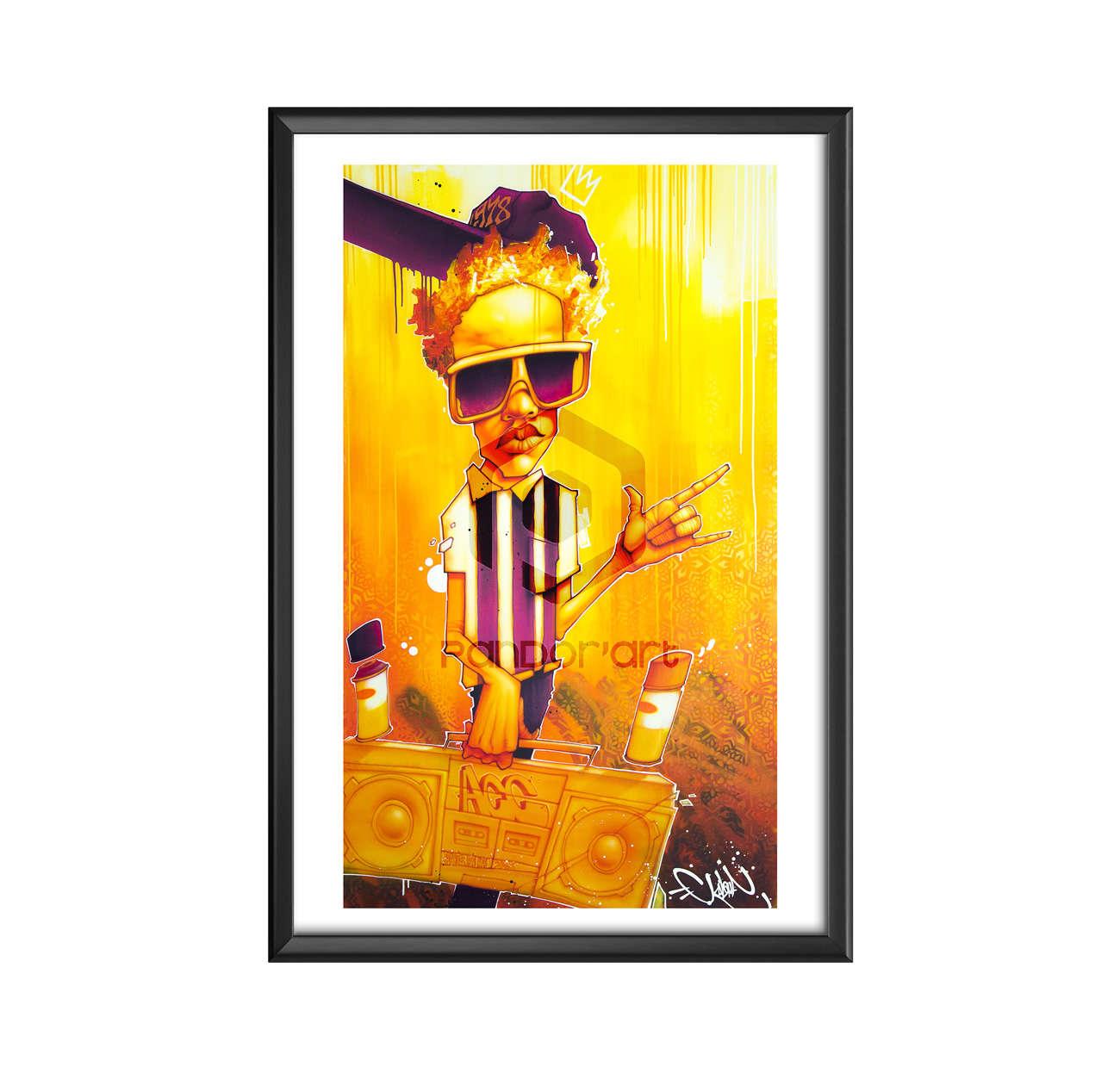 hip hop files cadre Kalouf street art