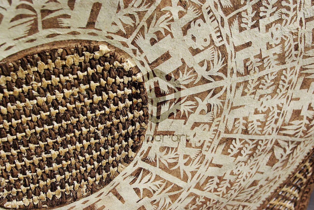 Papier amate art mexicain dioses blanc