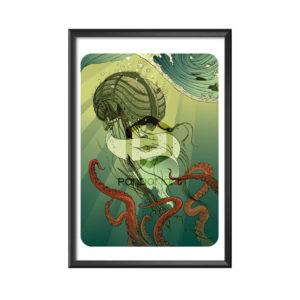 cadre Kraken Sophie Haza
