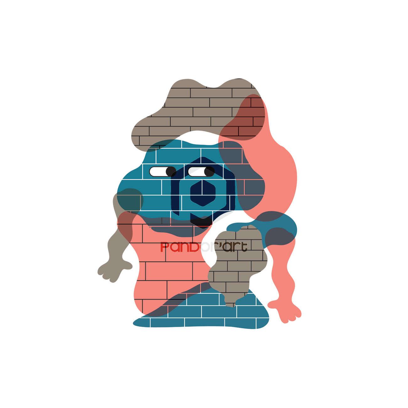 Jelly Wall Poney M art numerique Pandorart artiste
