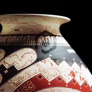vase ceramique marbre art mexicain mata ortiz