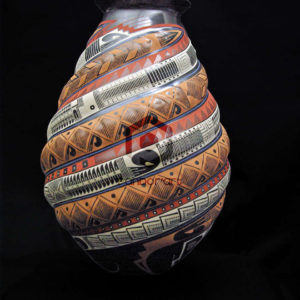 vase ceramique relief couleurs mata ortiz art mexicain