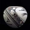 vase ceramique rouge noir blanc art mexicain mata ortiz