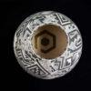 vase ovale ceramique noir blanc art mexicain mata ortiz