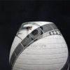 vase strie ceramique noir blanc art mexicain mata ortiz