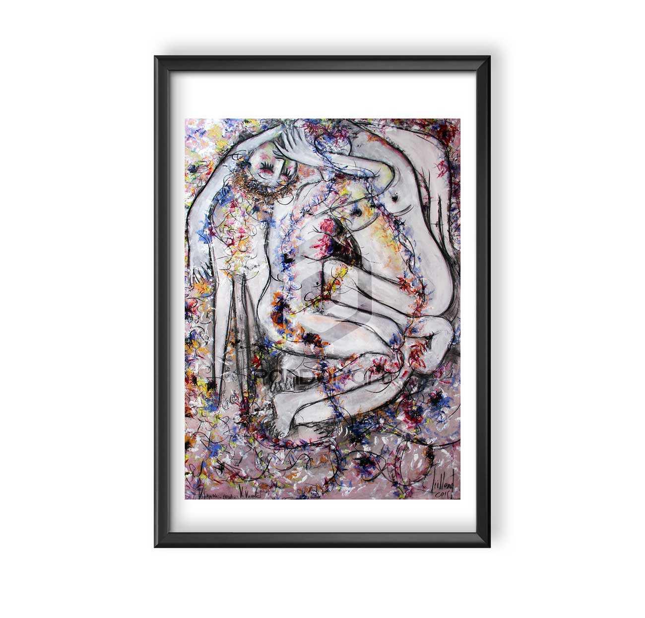 Emilie Teillaud Aimons-nous-vivants-cadre-45x60