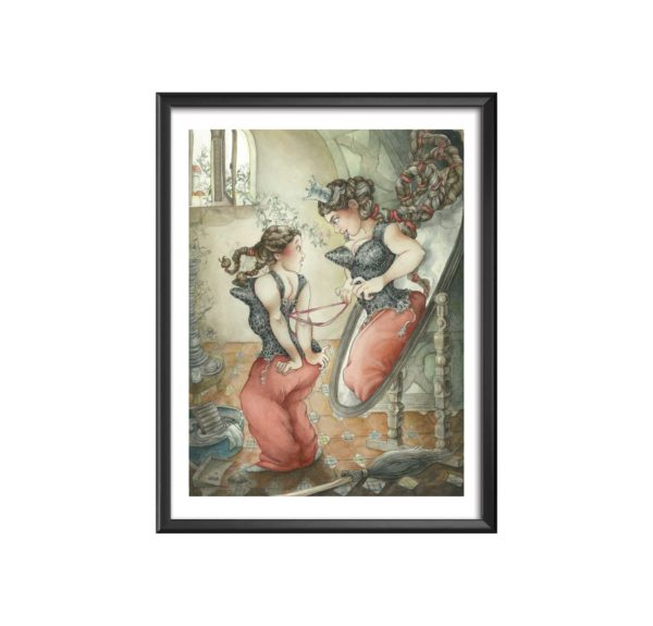 Blanche-Neige-II-(miroir)---Marjolaine-Larrive cadre