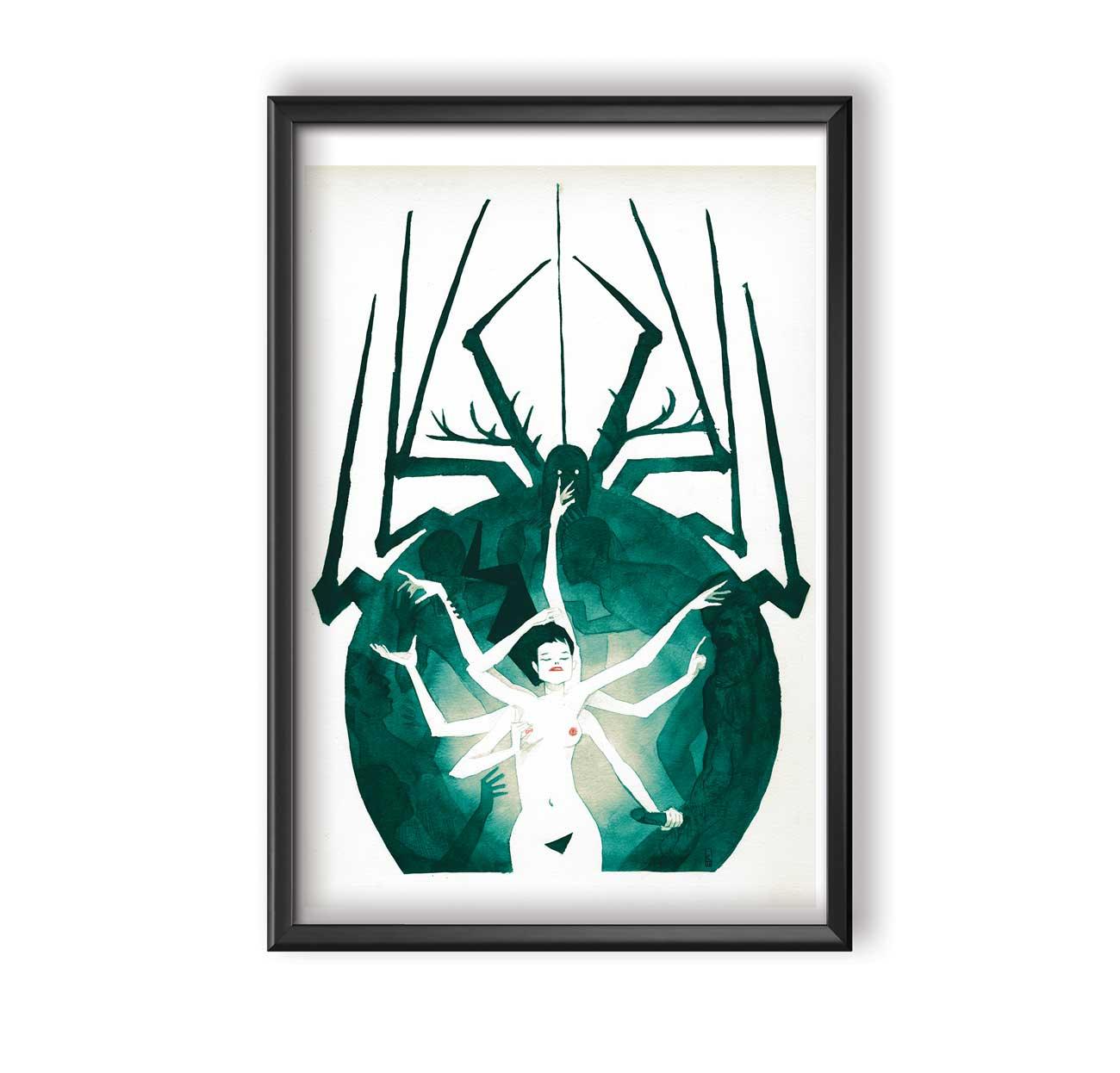 La-femme-araignée---Kieran cadre
