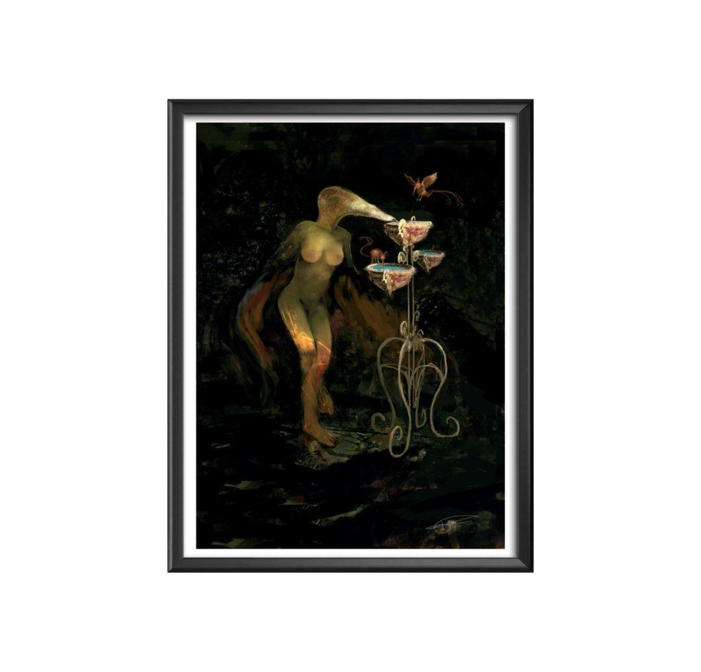 SC-pétrol-pop Gilles Tassan peinture numerique