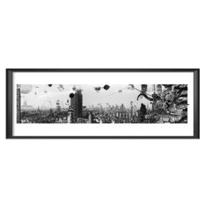 AC TOKYO FLAMMENT cadre 120x45 marc mandril peinture digitale