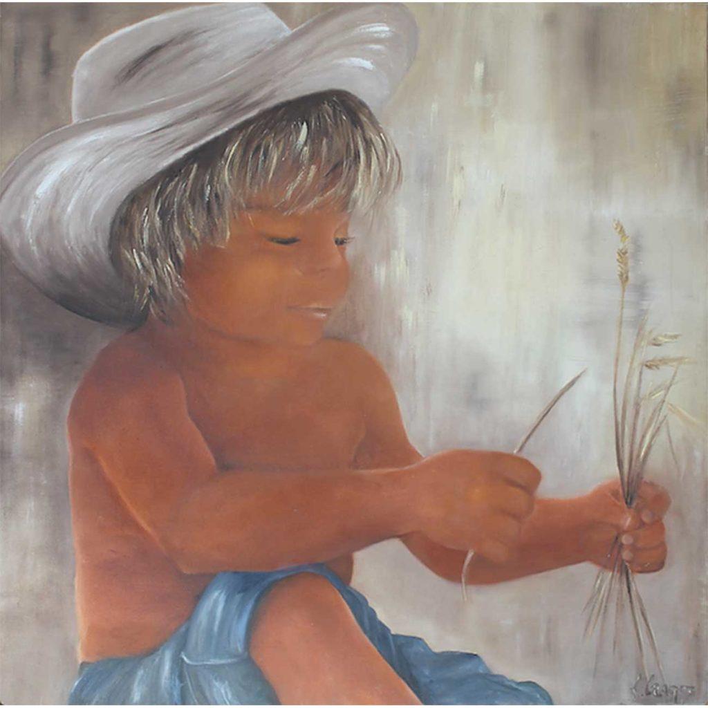 Blé-en-herbe Laure Gragez - Peinture art contemporain