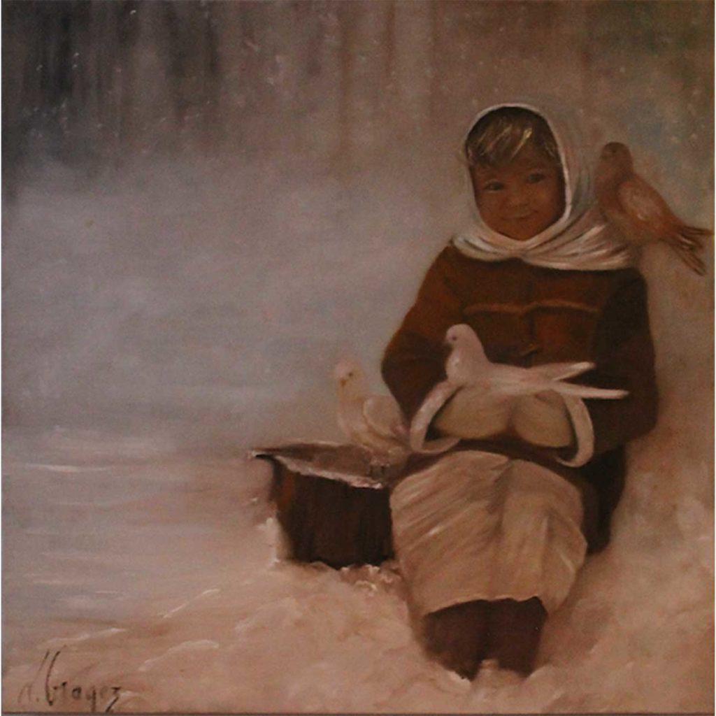 Flocon Laure Gragez - Peinture art contemporain