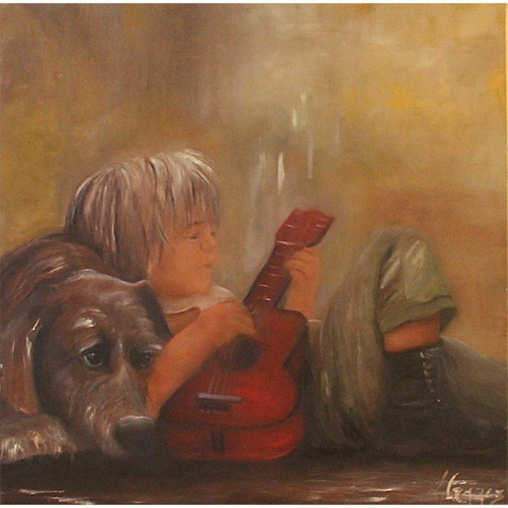 La-guitare-rouge Laure Gragez - Peinture art contemporain