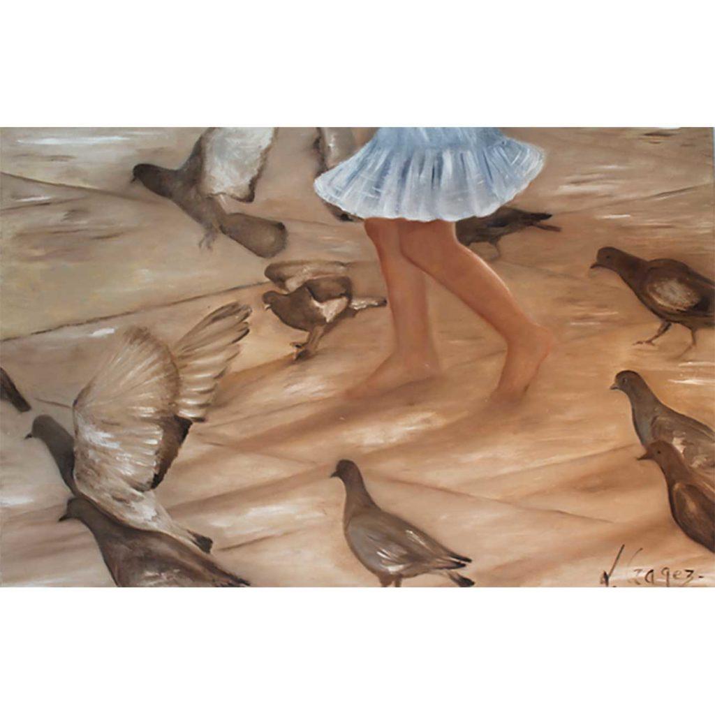 Le-jupon Laure Gragez - Peinture art contemporain