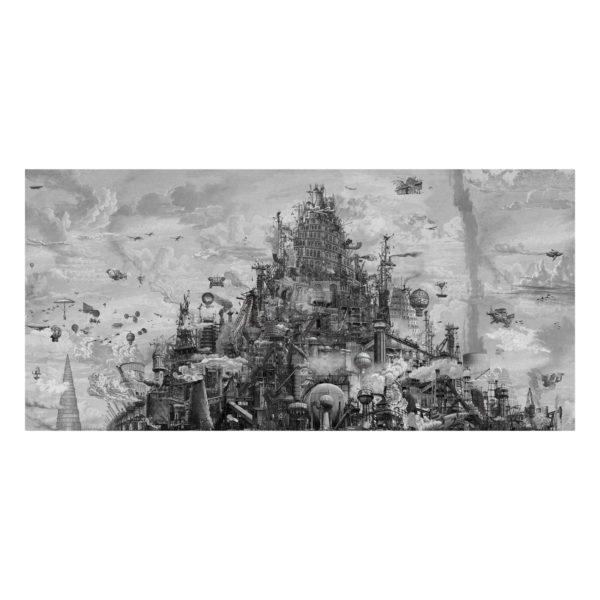 Mini steam carre babel final marc mandril peinture digitale