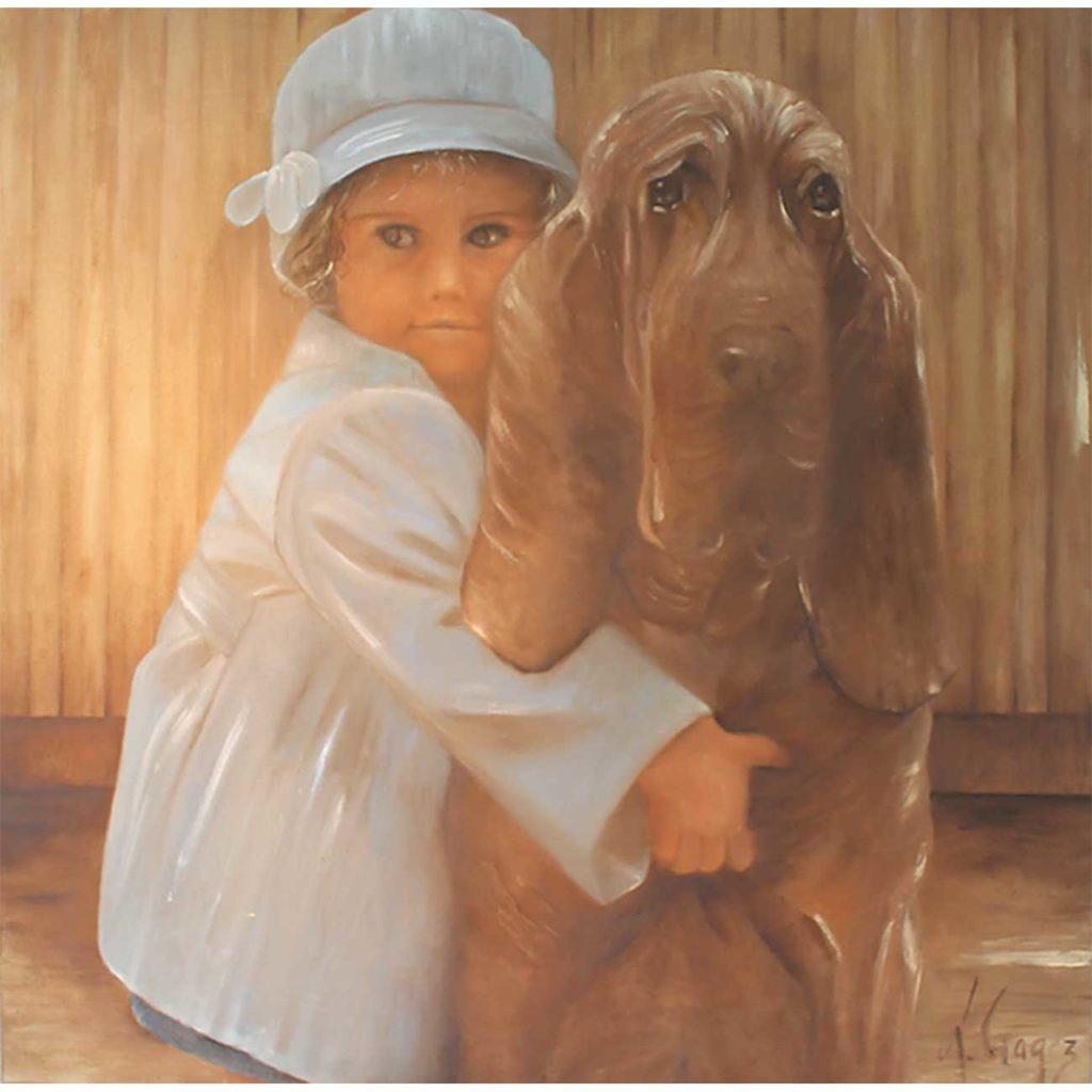 Mon-chien Laure Gragez - Peinture art contemporain