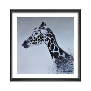 AC girafe-grande - antoine seurot - peinture acrylique sur toile
