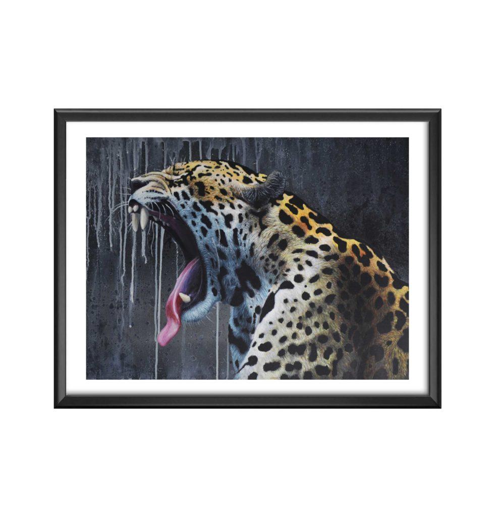 AC-panthere-grande - antoine seurot - peinture acrylique sur toile