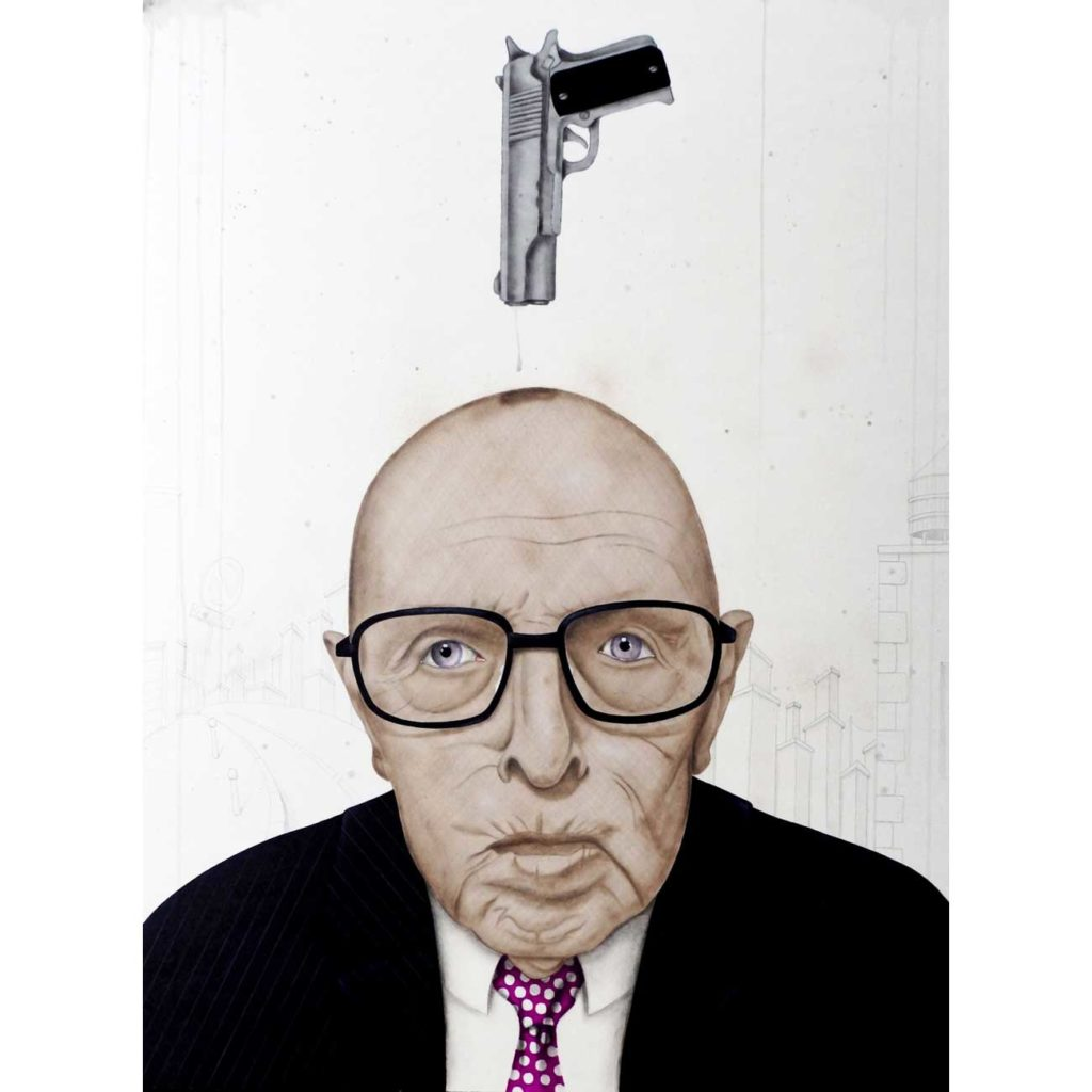 L'épée-de-Damocles - peinture art contemporain - Anthony Ferrero
