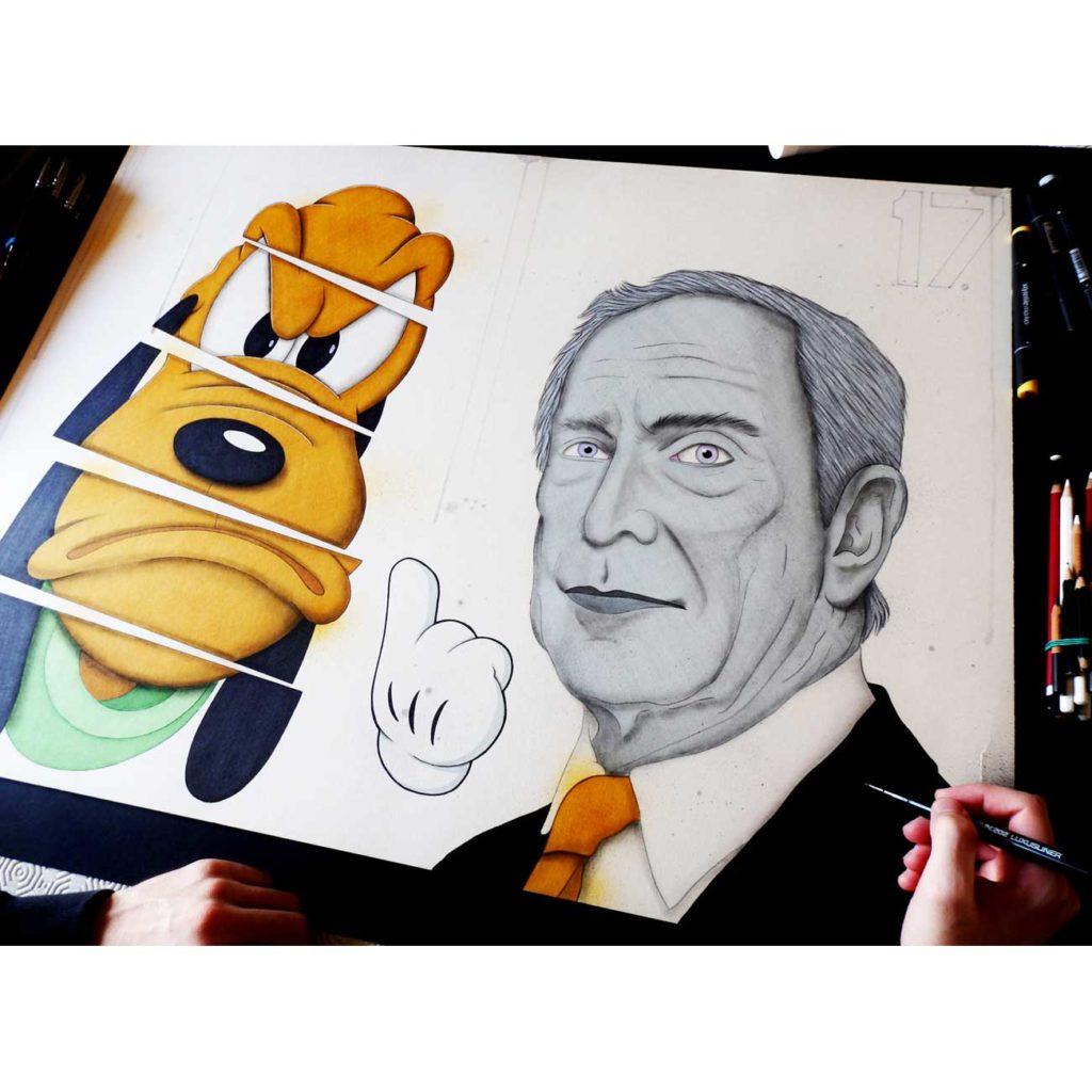 Le-marionnettiste - peinture art contemporain - Anthony Ferrero