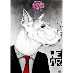 The-Banker - peinture art contemporain - Anthony Ferrero