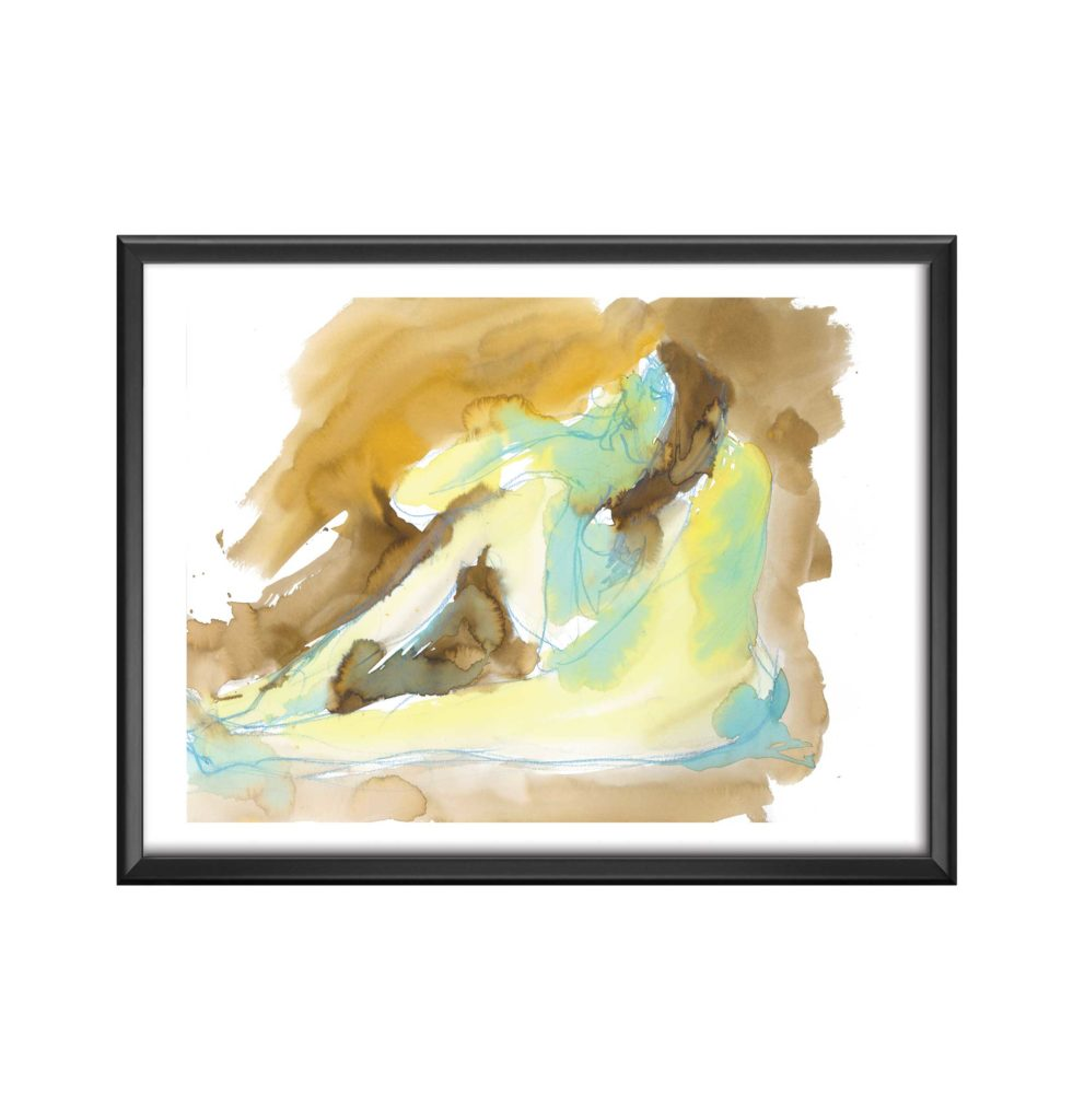 AC-La-femme-molle-aquarelle sandra vigouroux