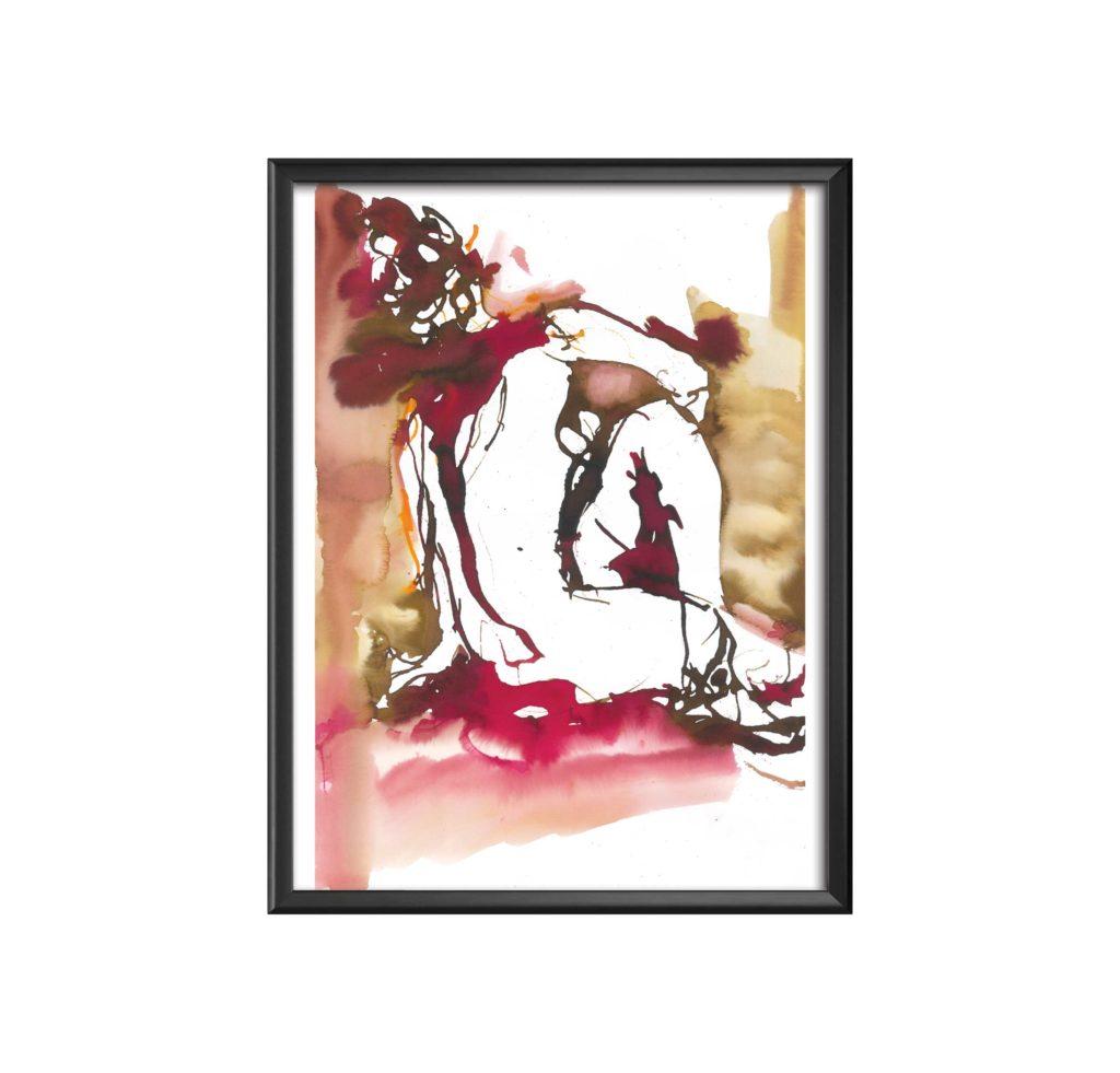 AC-femme-en-rouge-aquarelle sandra vigouroux