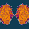 Masque reutilisable coronavirus Pandorart AFNOR fleur azote