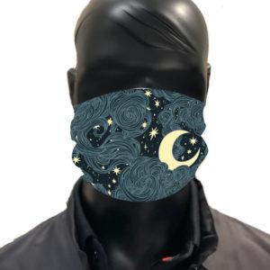 Simu lune Masque reutilisable coronavirus Pandorart AFNOR Zapatrax