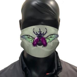 simu Coléoptère Masque reutilisable coronavirus Pandorart AFNOR