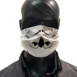 simu Masque reutilisable coronavirus Pandorart AFNOR stormtrooper