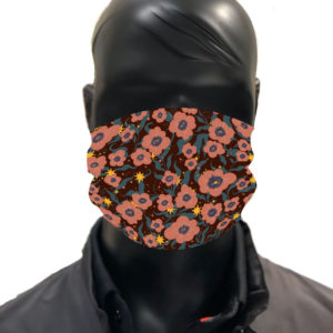 simu fleurs Masque reutilisable coronavirus Pandorart AFNOR Zapatrax