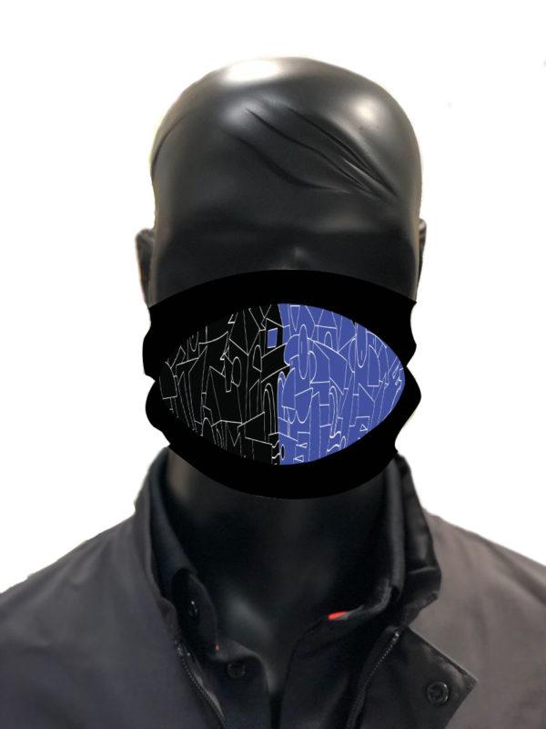simu noir et bleu Masque reutilisable coronavirus Pandorart AFNOR