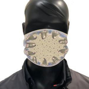 simu ptitbonhommes Masque reutilisable coronavirus Pandorart AFNOR