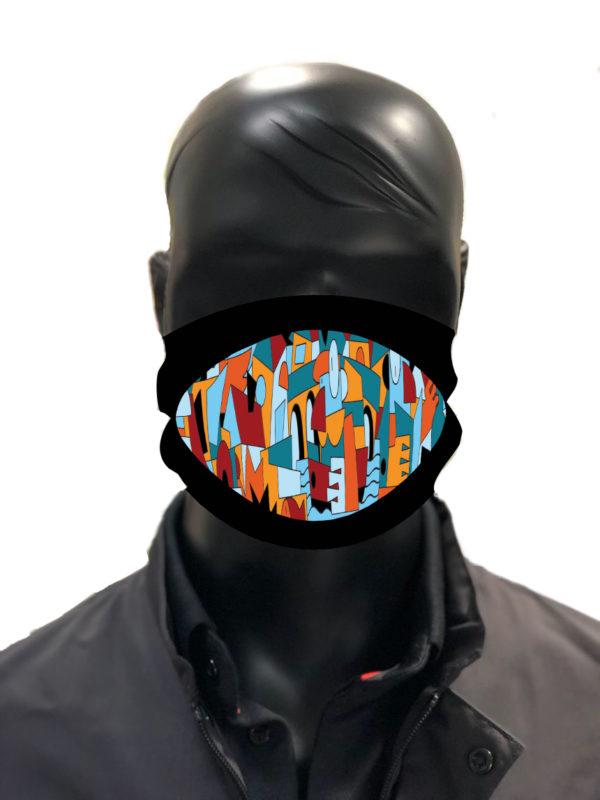 simu quadri Masque reutilisable coronavirus Pandorart AFNOR